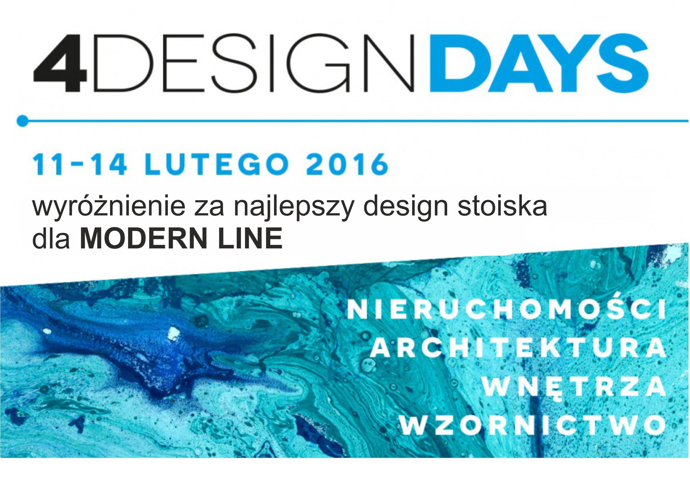 Wyróżnienie dla stoiska Modern Line na 4 Design Days