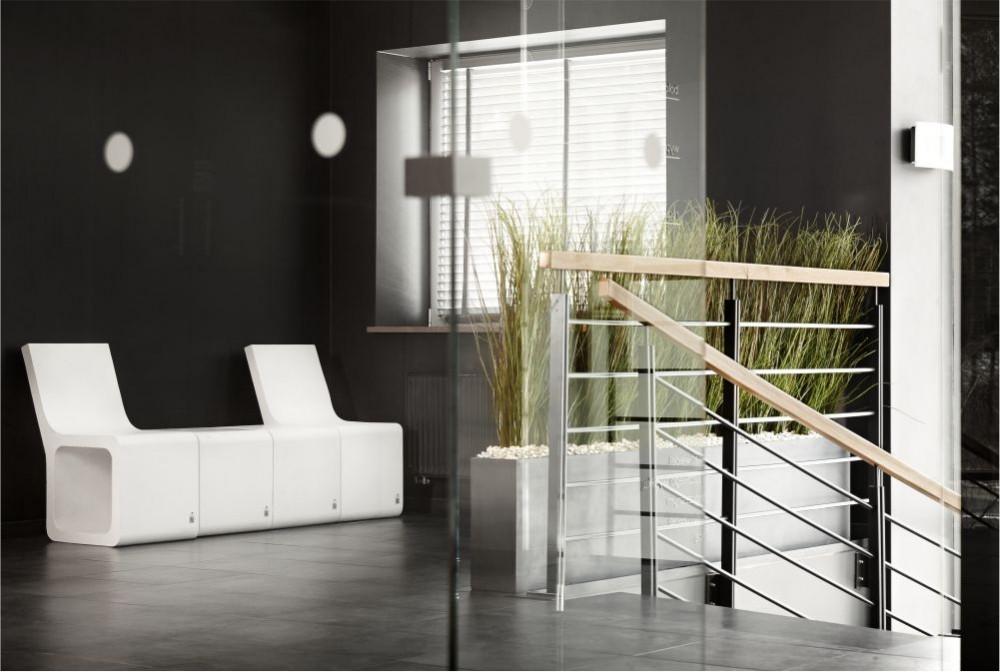 Stołek Harmony z oparciem, donice Regular/Harmony stool with backseat, Regular planters
