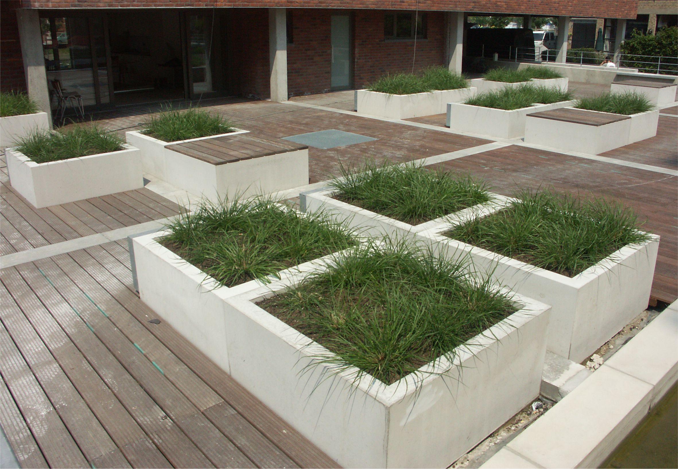 Beton blumentopf modern line for Blumentopf beton