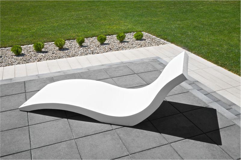 Designer Gartenliege gartenliege beton modern line