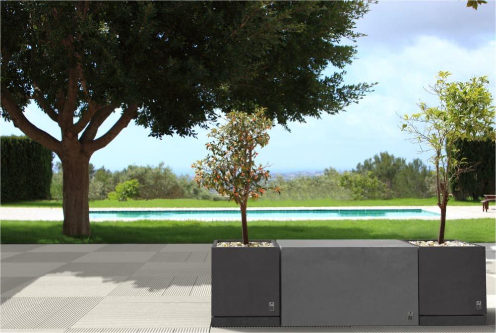 Płyta Style, Box Regular, Donice Regular z podstawką/ Style slab, Regular Box, Regular planter with saucer