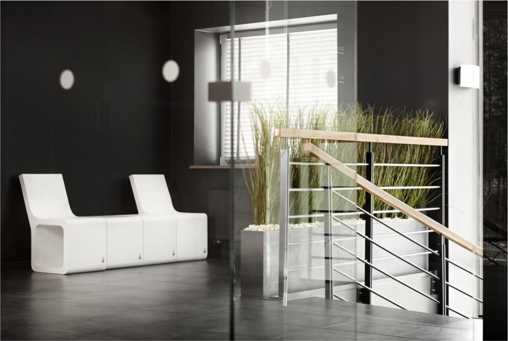 Stołek Harmony z oparciem i bez, Donica Regular/Harmony stools, Regular planter