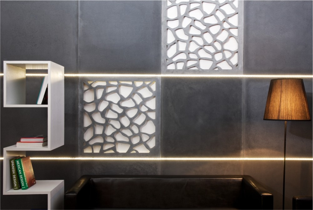 Betonowa półka, płyta ażurowa - projekt specjalny/ Concrete bookshelf & openwork concrete panels - special projects