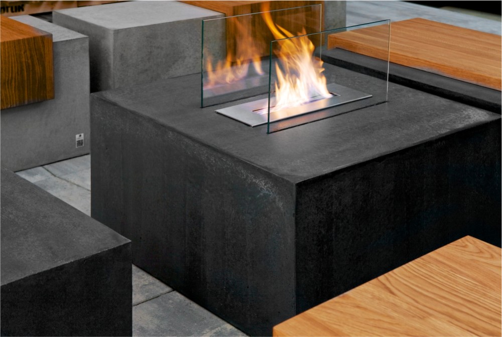 Biokominek/ Concrete fireplace