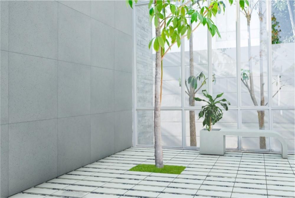 Płyta Slim porous, płyta ecoSolid. Ławodonica Harmony/Slim panel, ecoSolid slab, Harmony bench-planter