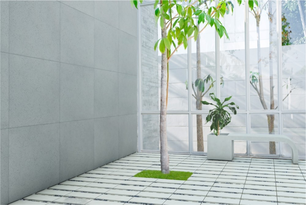 Płyta ecoSolid. Ławodonica Harmony/ecoSolid slab, Harmony bench-planter