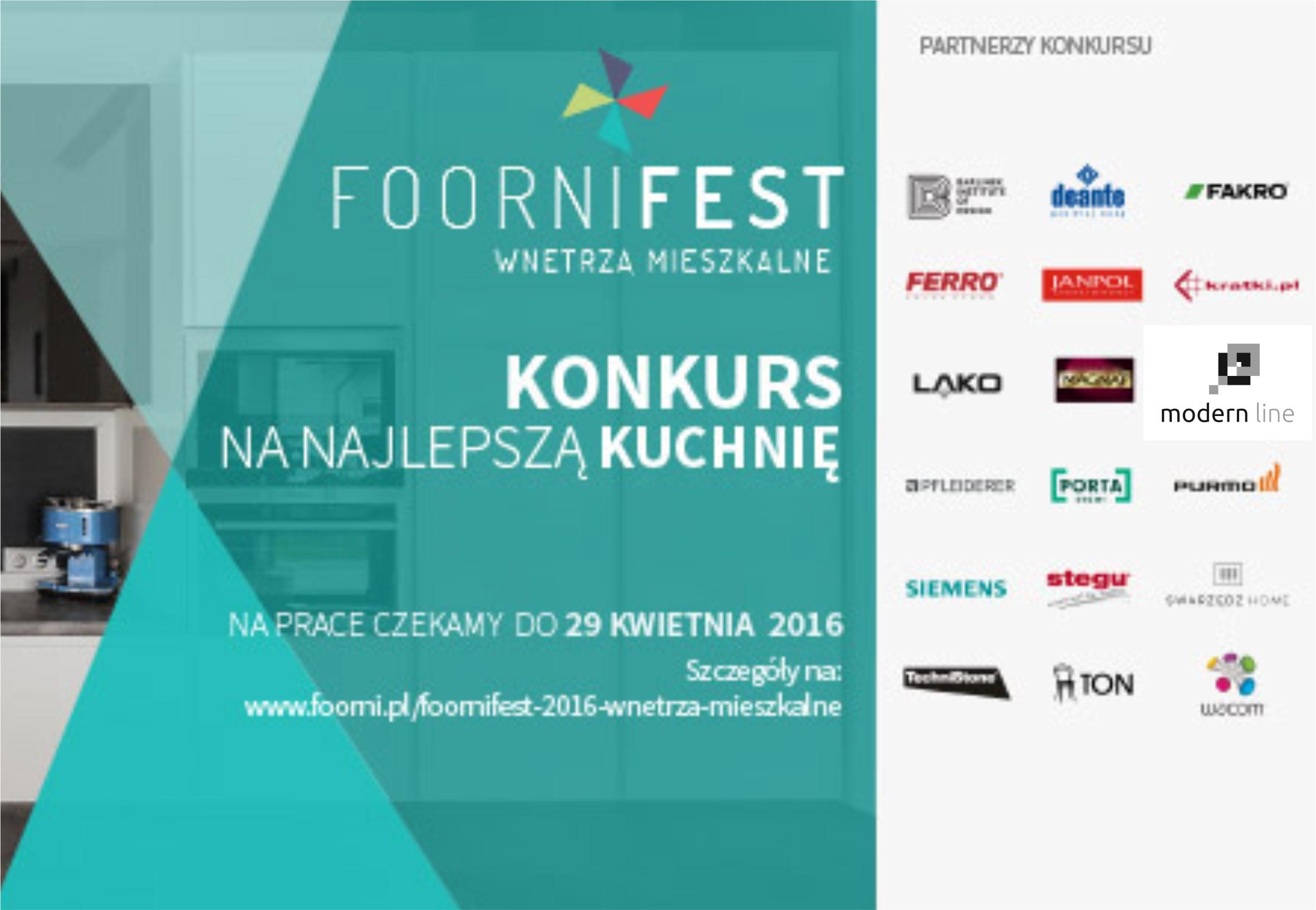 Modern Line partnerem konkursu Foorni Fest 2016
