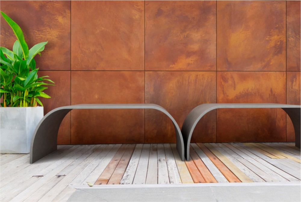 Płyta SLim rust 80x80/ Slim rust panels (80x80 cm format)