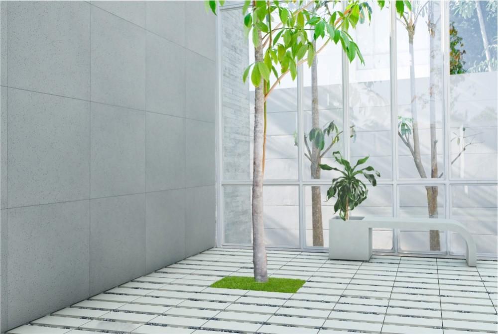 Płyta Slim porous, ecoSolid, Ławodonica Harmony/ Slim&ecoSolid panels, Harmony bench-planter