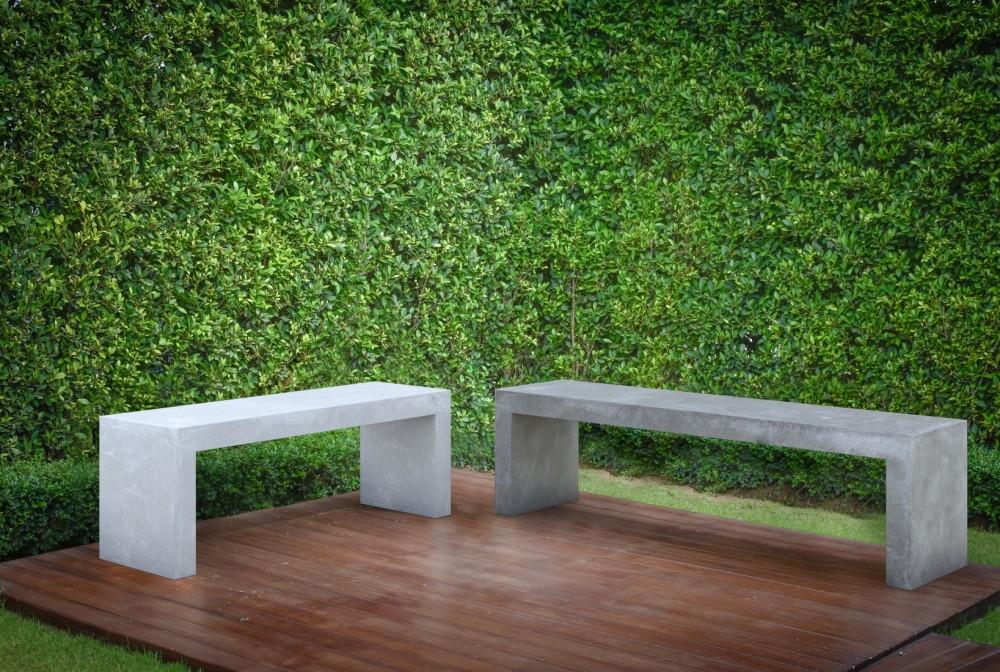 Ława Regular steel natural, concrete natural/Regular bench steel natural, concrete natural
