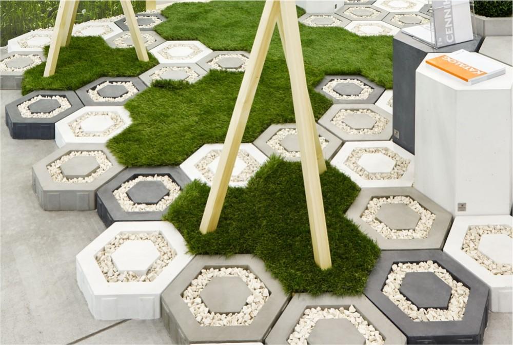 ecoHoney white, concrete, steel