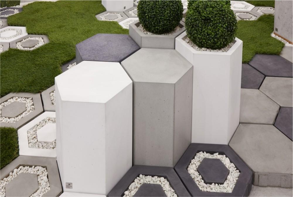 ecoHoneh, Honey white, concrete, steel