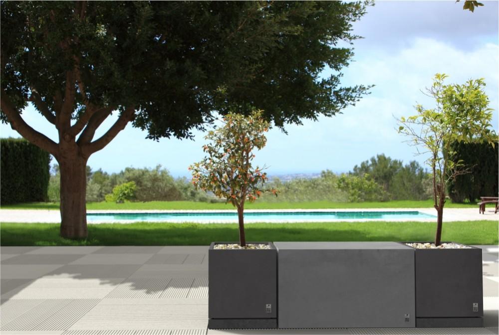 Płyta Style, Box Regular, Donica z podstawka Regular/ Style slab, Box Regular, Regular planter with saucer