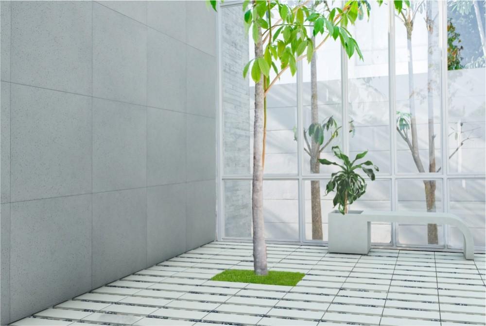 Płyta ecoSolid, Ławodonica Harmony/ ecoSolid slab, Harmony bench-pot